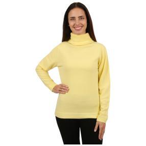 Cashmerelike Damen-Pullover Rollkragen vanille