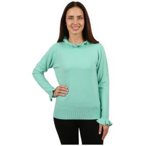 Cashmerelike Damen-Pullover Volants mint
