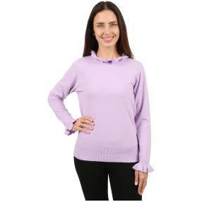 Cashmerelike Damen-Pullover Volants flieder