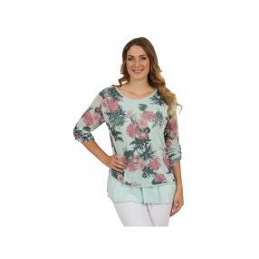 """Damen-Shirt """"Rosy"""" mit Knöpfen, 2-lagig, mint"""