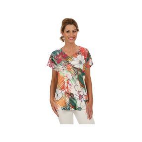 Damen-Shirt Blaze of Color mit Spitze, multicolor