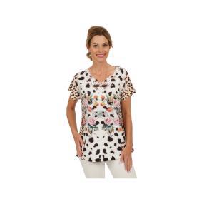 Damen-Shirt Mix&Match mit Spitze, multicolor