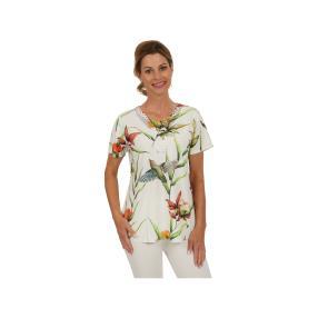 Damen-Shirt Paradise mit Spitze, multicolor