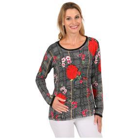 """MILANO DESIGN Damen-Pullover """"Check & Flowers"""""""