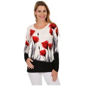 "MILANO DESIGN Damen-Pullover ""Poppies"""