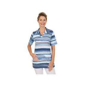RÖSSLER SELECTION Damen Shirt Polokragen blau