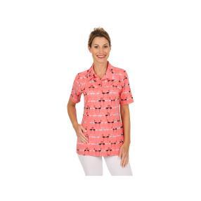 RÖSSLER SELECTION Damen Shirt Polokragen Flamingo