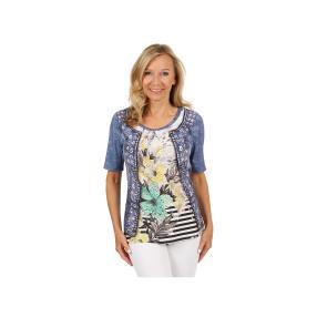 "BRILLIANT SHIRTS Damen-Shirt ""Denim & Lilies"""