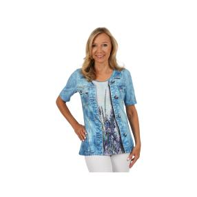 "BRILLIANT SHIRTS Damen-Shirt ""Floral Denim"""