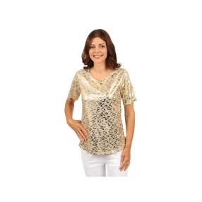 "Lisa Laardo Damen-Shirt ""Alva"", beige/gold"