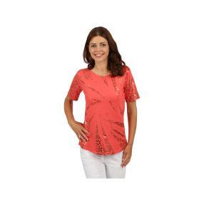 "Lisa Laardo Damen-Shirt ""Stella"", koralle/bronze"