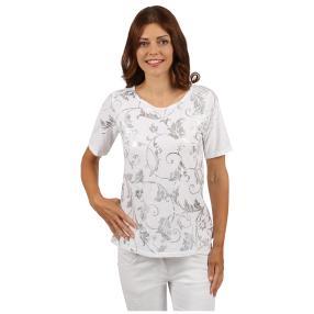 """Lisa Laardo Damen-Shirt """"Giulia"""", weiß/silber"""