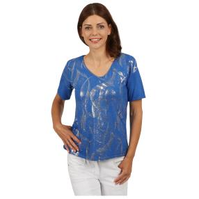 "Lisa Laardo Damen-Shirt ""Kiara"", royal/silber"