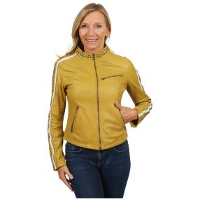"BLUE MONEKY Damen-Lederjacke ""Yellery"""