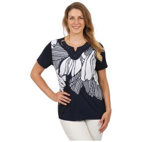 """Damen-Shirt """"Madrid"""" blau/weiß"""