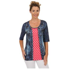 "BRILLIANT SHIRTS Damen-Shirt ""Denim Dotty"""