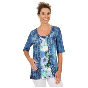 "BRILLIANT SHIRTS Damen-Shirt ""Strong Blue"""
