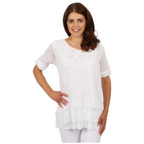 "MADE IN ITALY Damen-Blusen-Shirt ""Adora"", Spitze"