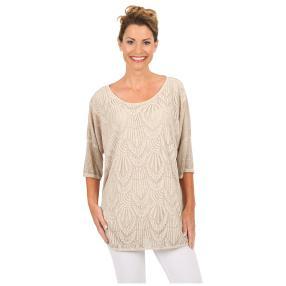 "MADE IN ITALY Damen-Blusen-Shirt ""Alegria"", Spitze"