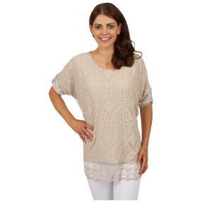 "MADE IN ITALY Damen-Blusen-Shirt ""Flavia"", Spitze"