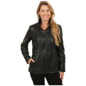 "MILANO Design Damen-Lederjacke ""Christina"" black"