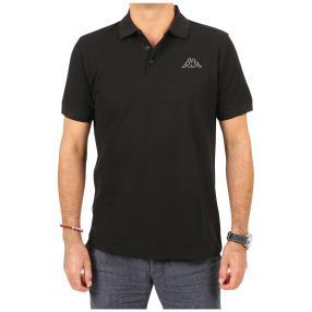 Kappa Herren-Poloshirt, schwarz