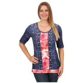 "BRILLIANT SHIRTS Damen-Shirt ""Red Bloom"""