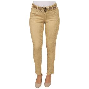 "Jet-Line Damen-Jeans ""Golden Brush"" mit Gürtel"