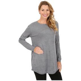 """Damen-Pullover """"Zoe"""" mit Herzchen grau"""