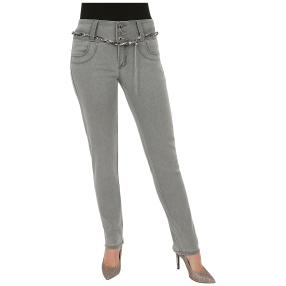 "Jet-Line Damen-Jeans ""Grace Grey"" mit Gürtel"