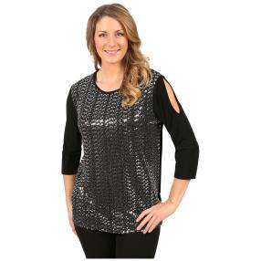 """IMAGINI Damen-Shirt """"Sanjana"""" black/silver"""
