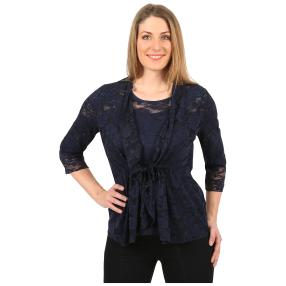 mocca by Jutta Leibfried Spitzencardigan dark blue