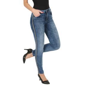 mocca by Jutta Leibfried Damen-Jeans blau