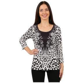 "BRILLIANTSHIRTS Damen-Shirt ""Elegant Leopard"""