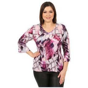 "Jeannie Damen-Plissee-Shirt ""Taormina"""