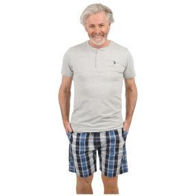 U.S. POLO ASSN. Herren-Pyjama-Set grau