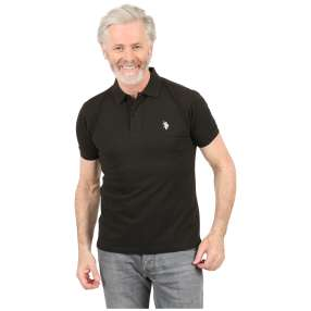 U.S. POLO ASSN. Herren-Poloshirt schwarz