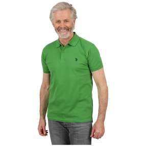 U.S. POLO ASSN. Herren-Poloshirt green apple