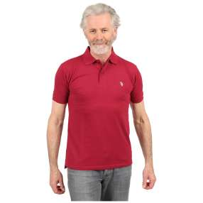 U.S. POLO ASSN. Herren-Poloshirt berry