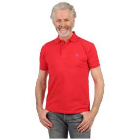 U.S. POLO ASSN. Herren-Poloshirt red