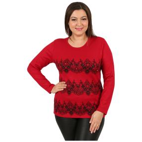 """Damen-Pullover """"Lacy"""" rot"""