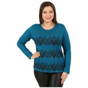 "Damen-Pullover ""Lacy"" blau"