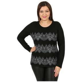 """Damen-Pullover """"Lacy"""" schwarz"""