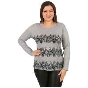 "Damen-Pullover ""Lacy"" grau"