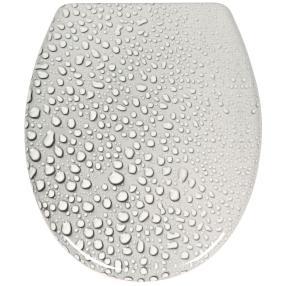 "WC-Sitz ""Regentropfen"", ca. 41,5 x 36 cm"
