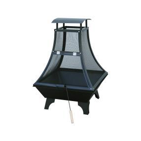 Feuerstelle Stahl 69x69x130cm