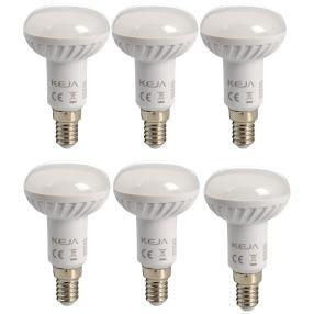 6x LED Leuchtmittel E14, Birne