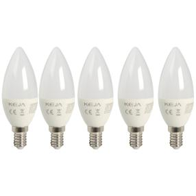 5x LED Leuchtmittel E14, Kerze