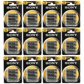 48x Sony Batterien AA