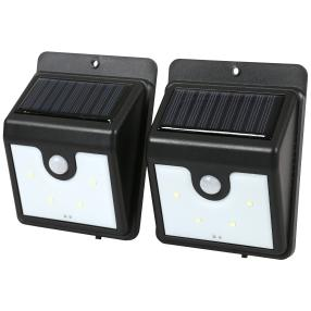 LED-Solar-Wandleuchte 2er Set